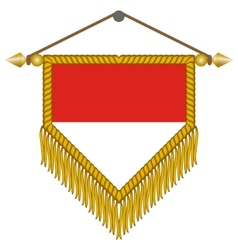 pennant with the flag of monaco vector image vector image