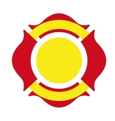 shield firefighter emergency icon vector image vector image