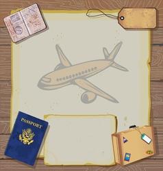 bon voyage party invitation vector image