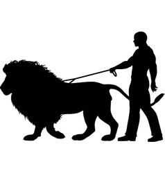 Lion walker vector image vector image