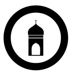 mosque icon black color in circle vector image