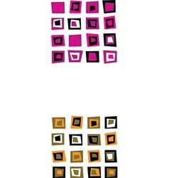 retro square seamless vector image vector image