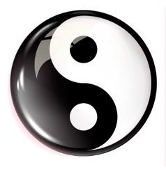 Volumetric image of feng shui Yin Yang vector image