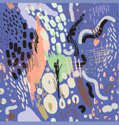 Digital brush strokes seamless pattern vector