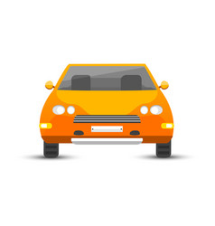 flat yellow car vehicle type design style vector image vector image
