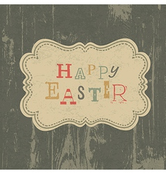 happy easter vintage background vector image vector image