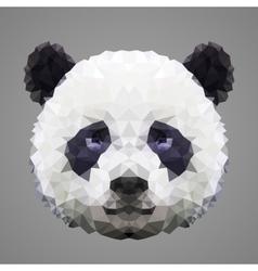 Panda low poly portrait vector image