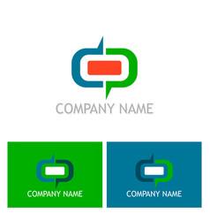 shape round company logo vector image