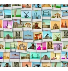 travel logo design template trip or world vector image