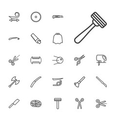 22 cut icons vector