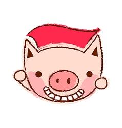 A flying piggy vector