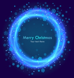 Abstract christmas blue background vector image