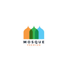 Abstract mosque dome modern logo icon design vector