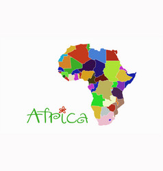 African continent vector