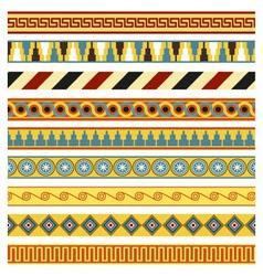 Ancient borders frames vector