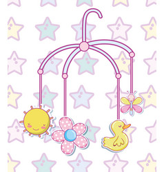 Baby toys cartoons vector
