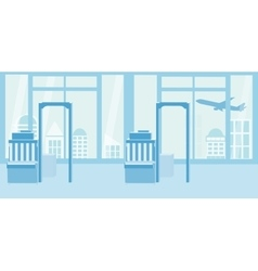 Background of airport interiors Travel Concept vector image