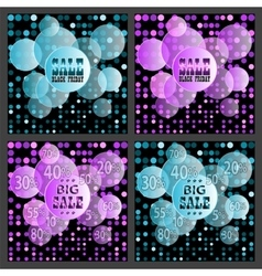 Black Friday sale colorful backgrounds vector