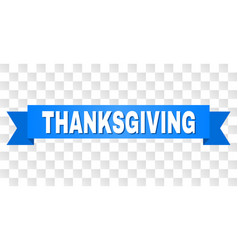 Blue tape with thanksgiving title vector