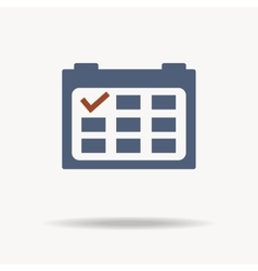 Calendar icon with red point flat design vector image