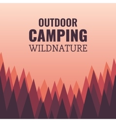 Camping wild forest and wildlife vector image