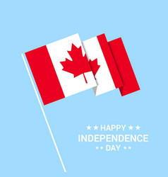 Canada independence day typographic design with vector