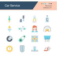 car service icons flat design collection 51 vector image