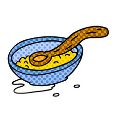 Cartoon doodle of a cereal bowl vector