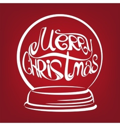 Christmas snow globe symbol drawn vector