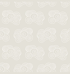 clouds waves seamless pattern vector image