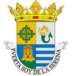 Coat of arms of villanueva de la serena in vector