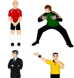 Collection of main football characters vector