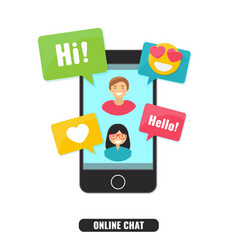 concept of online chat and social network vector image