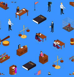 court seamless pattern background 3d isometric vector image
