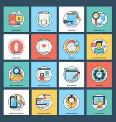 creative web development icon pack vector image