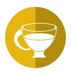 Cup espresso hot beverage-circle icon shadow vector