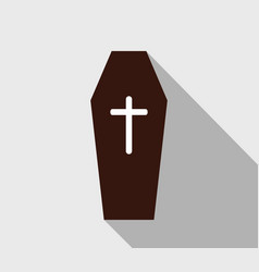 dead coffin icon vector image