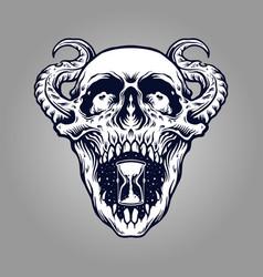 demon skull zombie tattoo vector image
