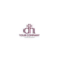 Dh church logo design vector