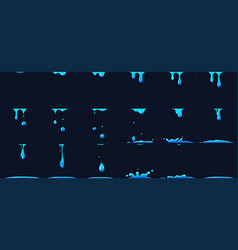 Dripping water animation water splashes for game vector