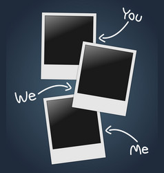 Empty photos template vector image