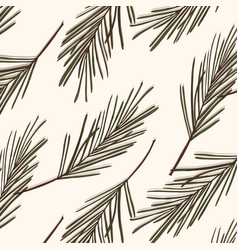 Evergreen tree pattern vintage new year vector