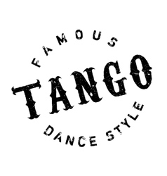 Famous dance style tango stamp vector