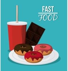 Fast food design menu icon Colorful vector image