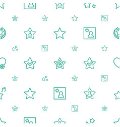 Favorite icons pattern seamless white background vector