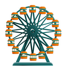 ferris wheel icon cartoon style vector image