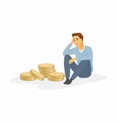 financial crisis - modern cartoon people character vector image