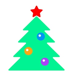 fir tree with toys vector image