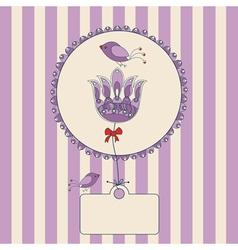 flower label vector image