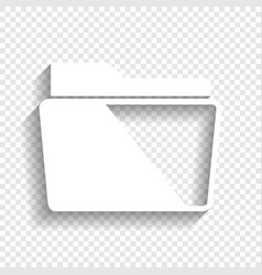 Folder sign white icon with vector